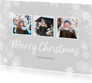 Kerstkaarten - Kerstkaart winter 3 foto's langwerpig - BK