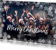 Zakelijke kerstkaarten - Kerstkaart winter staand grote foto - BK