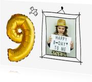 Kinderfeestjes - Kinderfeestje 9 jaar ballon foto