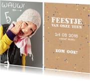 Kinderfeestjes - Kinderfeestje confetti foto wauw