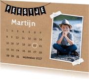 Kinderfeestjes - Kinderfeestje jongen kalender foto - LB