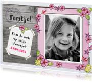 Kinderfeestjes - Kinderfeestje meisje foto bloemen