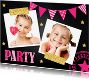 Kinderfeestjes - Kinderfeestje meisje slinger krijtbord - LB