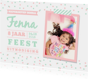Kinderfeestjes - Kinderfeestje mint roze foto