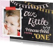 Kinderfeestjes - Kinderfeestje uitnodiging jonge prinses