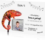 Kinderfeestjes - Kinderfeestje - Uitnodiging reptielen met eigen foto