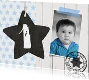 Kinderfeestjes - Kinderfeestje uitnodiging sterren jongen foto