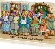 Verjaardagskaarten - Klassiek koor met Hartelijk Gefeliciteerd