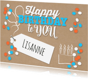 Verjaardagskaarten - Kraft en confetti-isf
