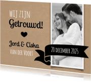 Trouwkaarten - Kraft en foto-isf
