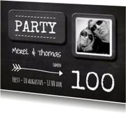 Uitnodigingen - Krijtbord uitnodiging hip - SG
