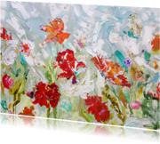 Kunstkaarten - Kunst bloemen schilderij rh IF