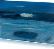 Kunstkaarten - Kunstkaart abstract zee en wolk
