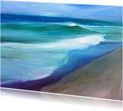 Kunstkaarten - Kunstkaart zee strand