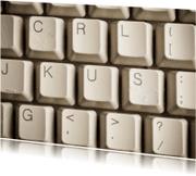 Liefde kaarten - KUS op computer toetsenbord