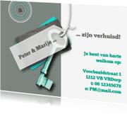 Verhuiskaarten - Label sleutel prints eigen txt