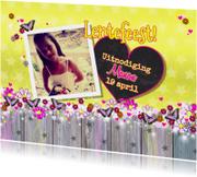 Communiekaarten - Lentefeest! vrolijk vlinders L