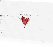 Liefde kaarten - Liefde Kaart Hart With Love