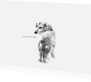 Liefde kaarten - Liefde Kaart Hondje Mist Je