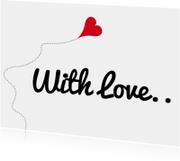 Liefde kaarten - Liefde kaarten - With Love