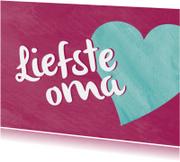 Opa & Omadag kaarten - Liefste oma - hartje