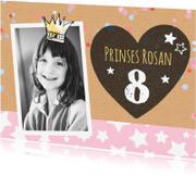 Kinderfeestjes - Lieve sterren uitnodiging meisje