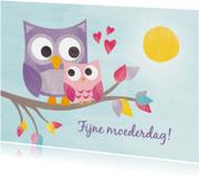 Moederdag kaarten - Lieve uiltjes moederdag