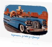 Geslaagd kaarten - Loeki de Leeuw en Roos Cadillac