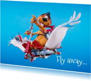 Vakantiekaarten - Loeki de Leeuw vliegt uit