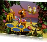 Verjaardagskaarten - Loeki de Leeuw zonnebloem drums