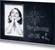 Kerstkaarten - Merry Christmas-Chalkboard