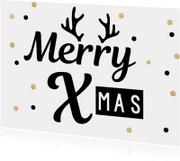 Kerstkaarten - Merry XMas Dots