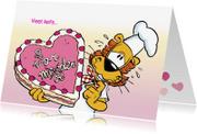Moederdag kaarten - Moederdag hartjes taart van Loeki - A
