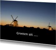 Ansichtkaarten - Molens tegen avondlucht