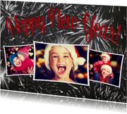 Nieuwjaarskaarten - New Year krijt 3 foto's - BK