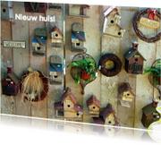 Verhuiskaarten - Nieuw huis met vogelhuisjes