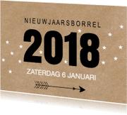 Uitnodigingen - Nieuwjaarsborrel kraft sterren LB