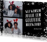 Nieuwjaarskaarten - Nieuwjaarskaart, flitsende sterren om je foto's en kaart