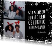 Nieuwjaarskaart, flitsende sterren om je foto's en kaart