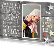 Nieuwjaarskaarten - Nieuwjaarskaart handgeschreven