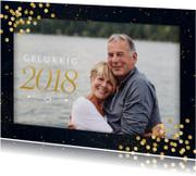 Nieuwjaarskaarten - Nieuwjaarskaart met confetti en grote foto