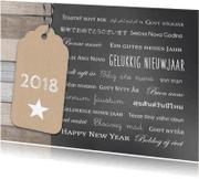 Nieuwjaarskaarten - Nieuwjaarskaart talen label
