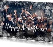 Nieuwjaarskaarten - Nieuwjaarskaart winter grote foto - BK