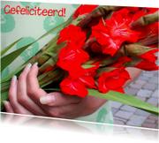 Felicitatiekaarten - Nijmeegse vierdaagse kaart met gladiolen