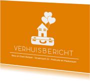 Verhuiskaarten - Oranje verhuisbericht
