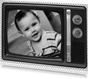 Ansichtkaarten - Ouderwetse TV Fotokaart