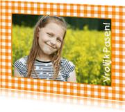 Paaskaarten - Paaskaart Eigen Foto Ruitjeskader