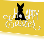 Paaskaarten - Paaskaart Happy Easter Bunny SG
