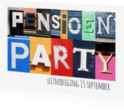 Uitnodigingen - Pensioen party uitnodiging