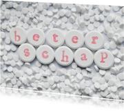 Beterschapskaarten - Pillen met BETERSCHAP erop